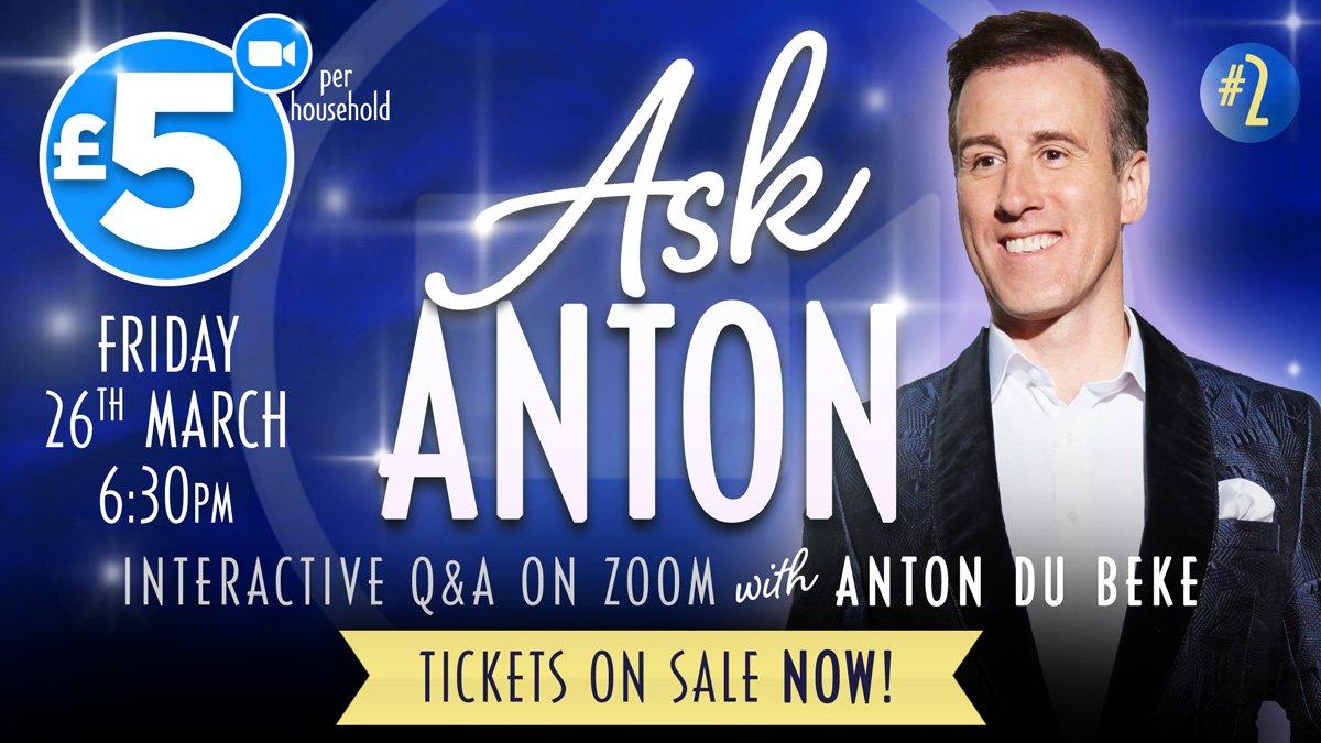 Ask Anton #2 - 26th March livestream Q&A