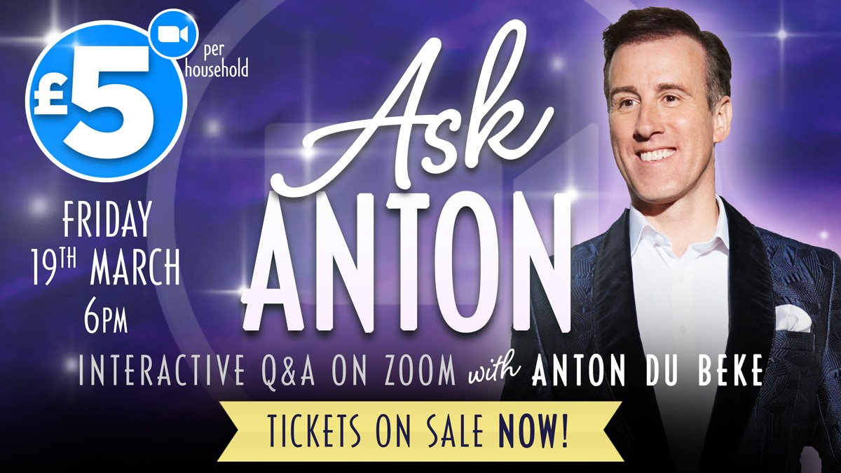 Ask Anton - interactive zoom Q&A