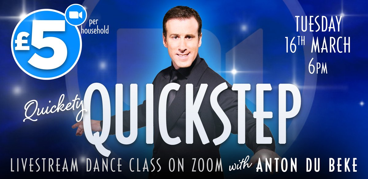 Quickstep Class with Anton Du Beke on Zoom