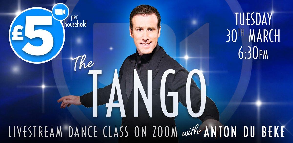 Tango class with Anton Du Beke on Zoom