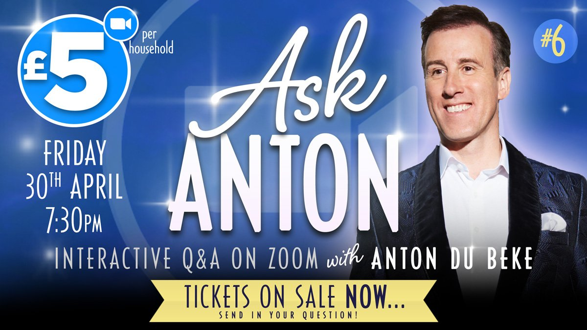 Ask Anton - livestream Q&A with Anton Du Beke