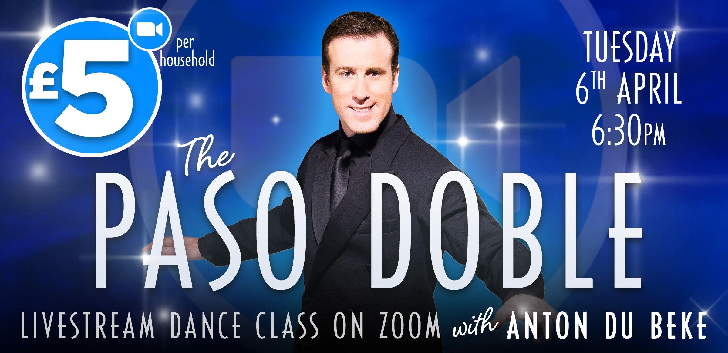 Paso Doble class with Anton Du Beke on Zoom