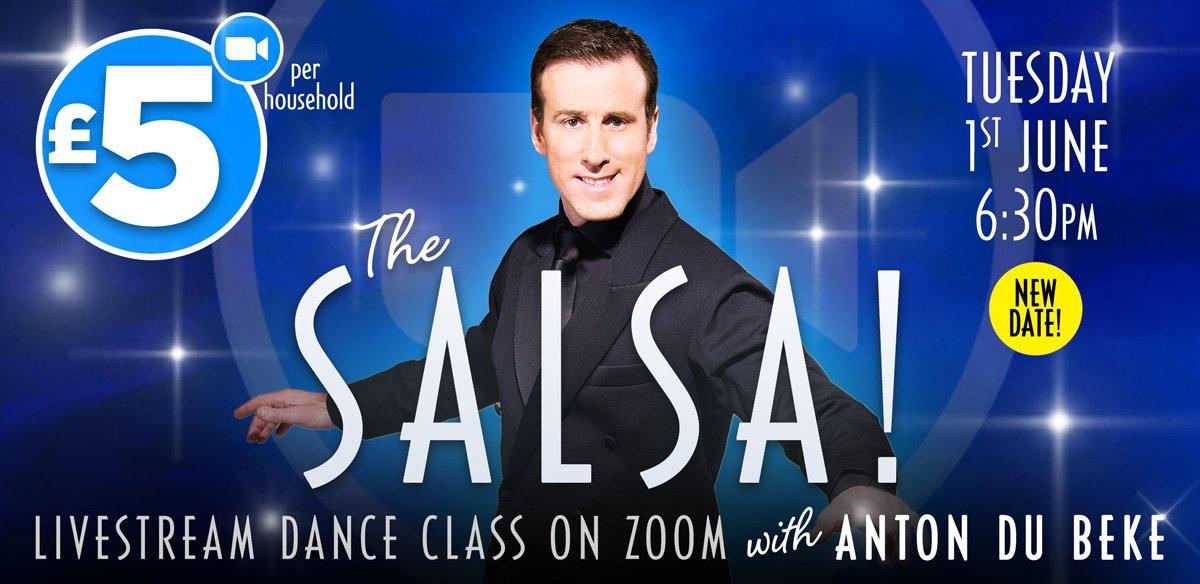 Salsa Class on Zoom with Anton Du Beke
